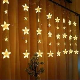Luz Luces Cortina LED estrella 2 metros cajón de 24 unidades