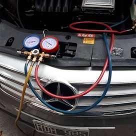 Carga de aire acondicionado automovil