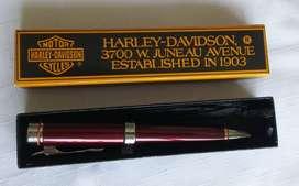 Bolígrafo HARLEY-DAVIDSON, ROLLER, en su Estuche Original, SIN USO, Excelente Estado.