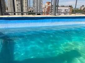 alquilo por dia departamento de categoria con piscina palermo 2/4 personas .
