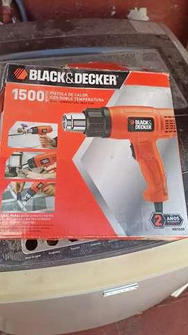 Pistola Calor Black Decker HG 1500 Como Nu