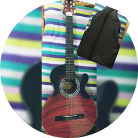 Guitarra + estuche negro