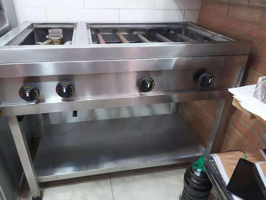 Parrilla y estufa para restaurante promoción 0