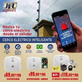 cerco electrico inteligente monitoreo desde el celular hagroy/ jfl.cercos electricos para casas.edificios.kit cerco