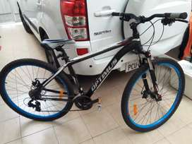 Bicicleta marca Olimpos Genuina con accesorios Shimano  con un mes de uso  como nueva