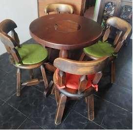 Comedor USADO rustico en madera