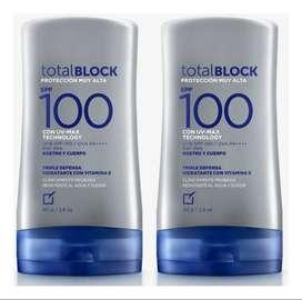 PROTECTOR SOLAR TOTAL BLOCK SPF100 !PROMO 2X1!