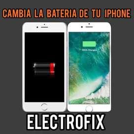 bateria iphone 5 6 7 8 plus garantia tienda instalado