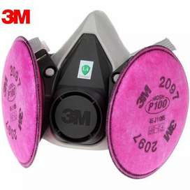 Máscara 3M para protección respiratoria con filtro P100 / 2097