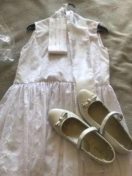 Vestido Y Zapatos de Comunion