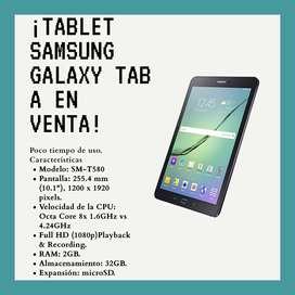 Se vende tablet Samsung Galaxy Tab A (2016) SM-T580 de 32 GB en excelente estado y poco usó.