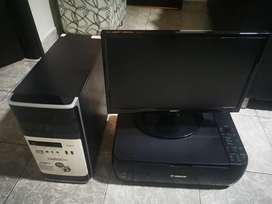 Computador de mesa Qbext con impresora