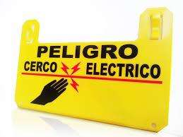 LETRERO PARA CERCA ELECTRICA