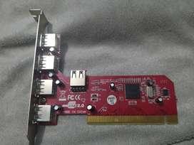Tarjeta USB 2.0