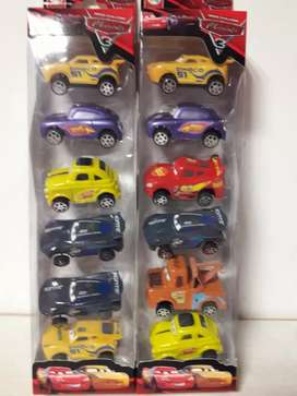 Set x6 Autitos de Cars Disney