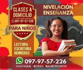 Clases a Domicilio para Niños de Inicial y Básica: Enseñanza, nivelación de lectura, escritura, números