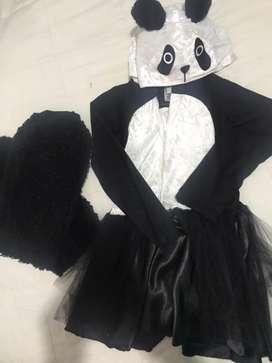 Disfraz de panda talla 8 niña, cachivaches, usado una vez en buen estado