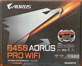 Botas Gigabyte B450 Aurus Pro Wifi - nueva