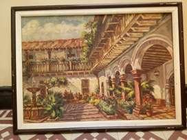 Cuadro Antiguo al oleo hecho por pintor Ecuatoriano