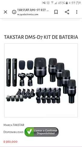 Ganga micrófonos de kit bateria
