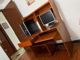 Mueble funcional para computador de escritorio o portatil
