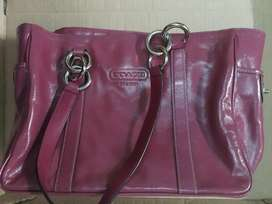 Cartera Original Coach Tote, Color Rosa