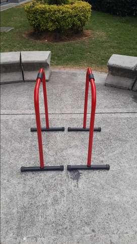 Barras paralelas 80 cm,ejercicios fondos