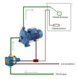 Instalacion de bomba de agua centrifuga o presurizadora