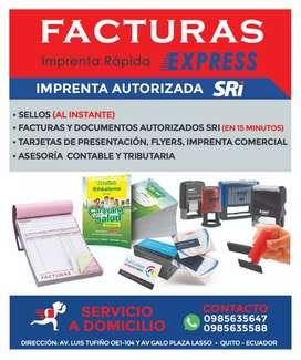 Facturas Express Imprenta Rápida 30 (minutos)