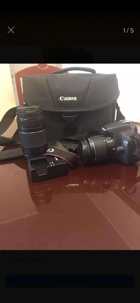 Vendo Pack Canon T5 Casi Nuevo 0