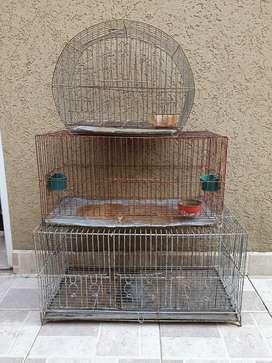 Jaulas para aves. Diferentes medidas.