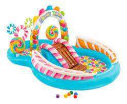 Piscina Inflable Intex Centro De Juegos Con Tobogan 57453