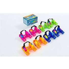 Patines Luminosos Flashing Roller Para Zapatos Tennis Niños