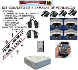 kit 4 camaras de seguridad