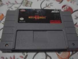 Juego Mortal Kombat 2 Nintendo Snes Original Impecable!!