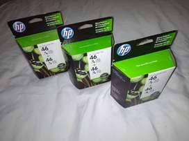 Cartucho HP 46 COLOR, X2, Sellado nuevo.