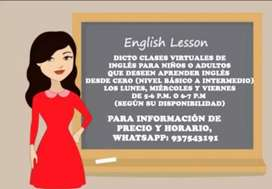 CLASES VIRTUALES DE INGLÉS PARA APRENDER DESDE 0