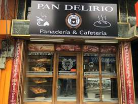 En venta panadería, pastelería y cafetería PAN DELIRIO en la av cevallos
