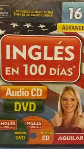 Ingles en 100 dias , cd y dvd