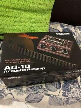 Boss AD-10 preamblificador para guitarra