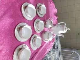 Juego de té de porcelana  verbano