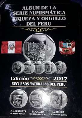 Álbum Coleccion de Monedas Riqueza y Orgullo del Perú