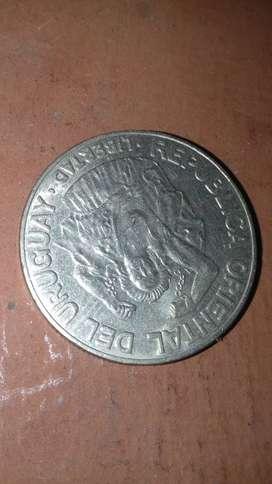Moneda 200 pesos uruguayos 1989