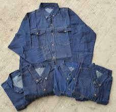 Camisa de jean industrial