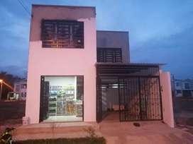 Se vende casa de dos pisos barata en cumaral meta urbanización el garcero