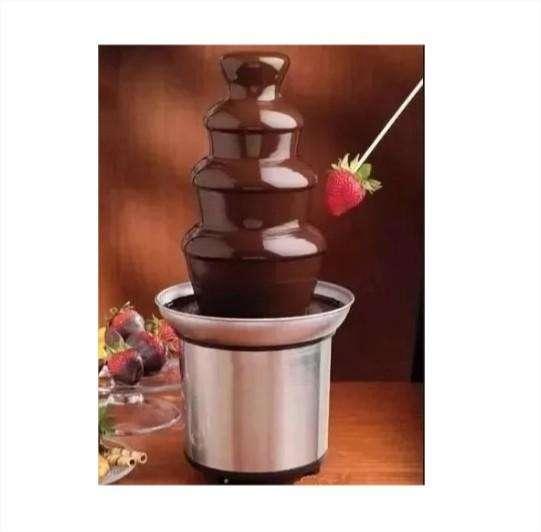 Fuente Chocolate Pileta Cascada Fondue 4 Piso Acero 46 Cm (1417) 0