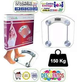Balanza Personal Baño Bascula Digital Pesa 150kg en Vidrio Universal Royal Nuevas, Originales, Garantizadas.
