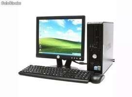 Oferta computadores intel core 2 duo con monitor 17 garantía