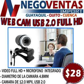 WEB CAM USB 2.0 FULL HD EN DESCUENTO EXCLUSIVO DE NEGOVENTAS