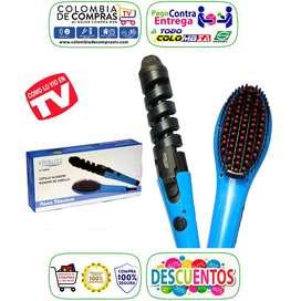 Combo Tv Cepillo Alisador Digital 450ºf + Rizador Curl Nuevos, Originales, Garantizados.
